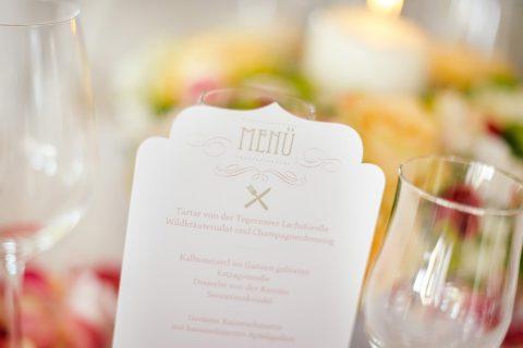 Menükarten für Feier oder Hochzeit Alm Chalet