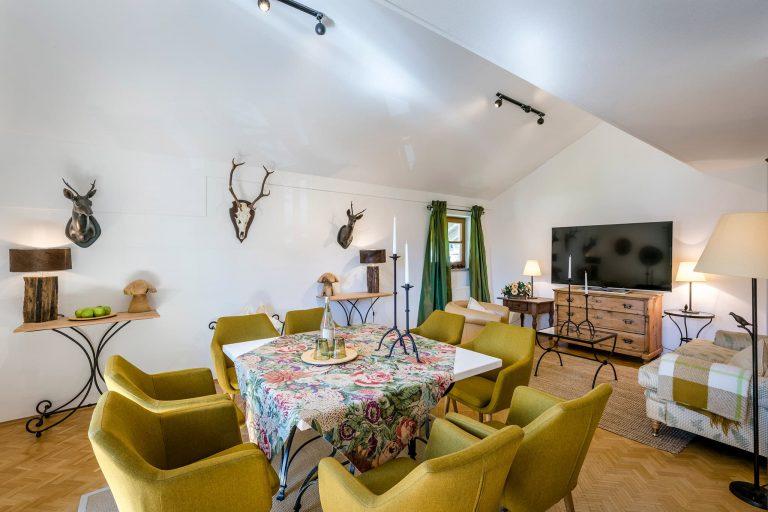 Dreiraum Appartement Suite Esszimmer Relais Chalet Wilhelmy
