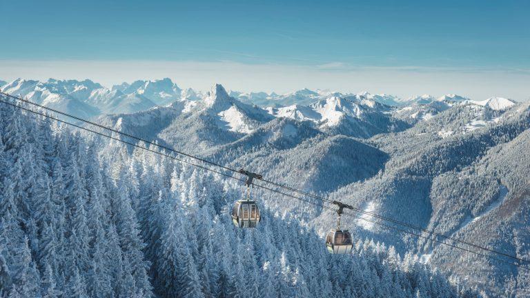 Wallbergbahn am Tegernsee im Winter Relais Chalet Wilhelmy